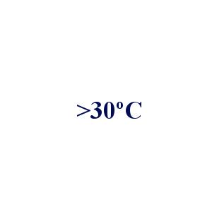 > 30 °C