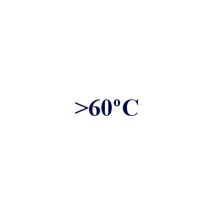 > 60 °C
