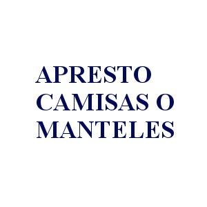 APRESTO CAMISAS O MANTELES