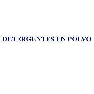 DETERGENTES EN POLVO