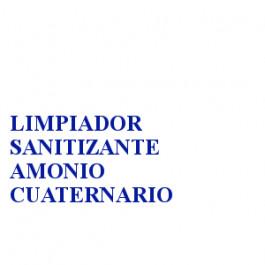 LIMPIADOR SANITIZANTE AMONIO CUATERNARIO