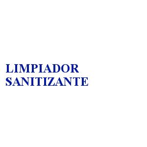 LIMPIADOR SANITIZANTE