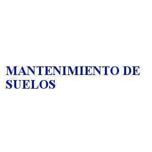 MANTENIMIENTO DE SUELOS